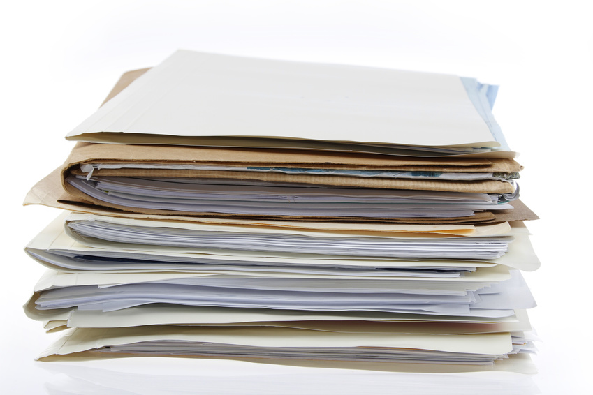 image of folders with papers