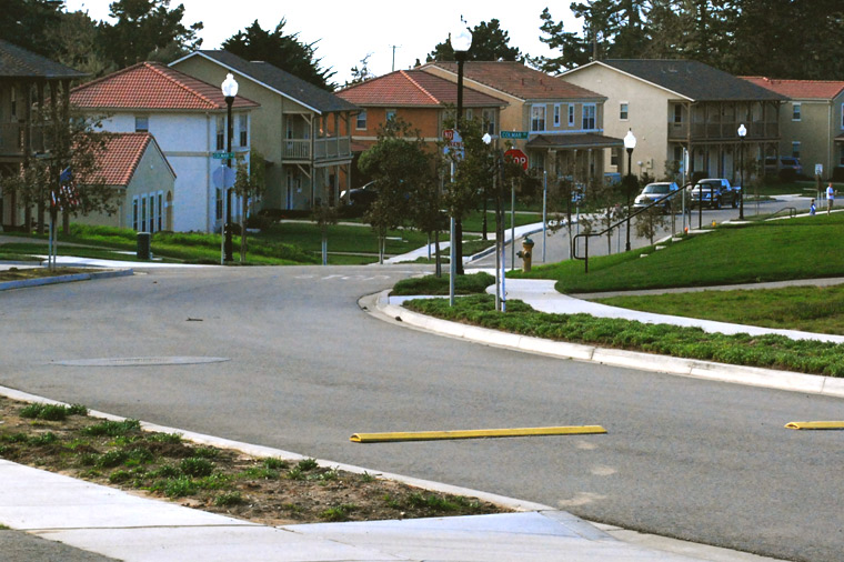 image of a street with residences