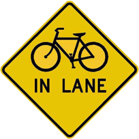 full lane sign