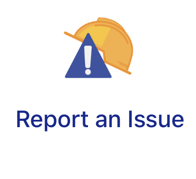 screen shot of report an issue