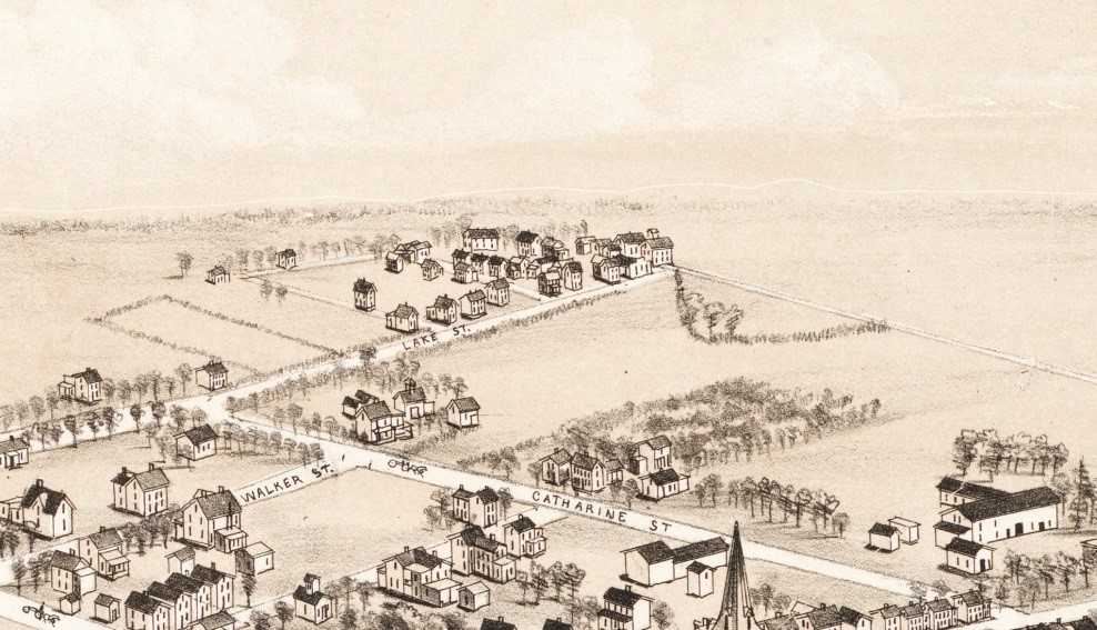 1885 Drawing of Daletown, an African American Community that Grew Up Just Outside the Boundary of Middletown