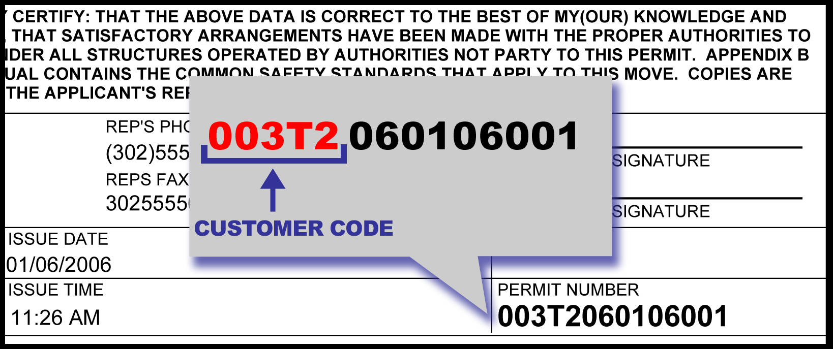 Example Customer Code
